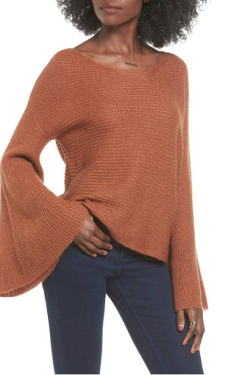 BP flare sleeve sweater