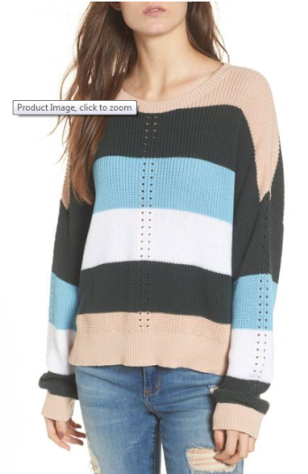 BP Striped Sweater