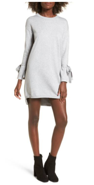 Cotton Emporium Tie Sleeve Sweater Dress