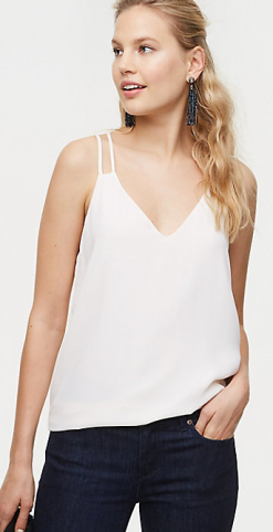 Loft criss cross strappy cami
